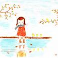 水辺の女の子