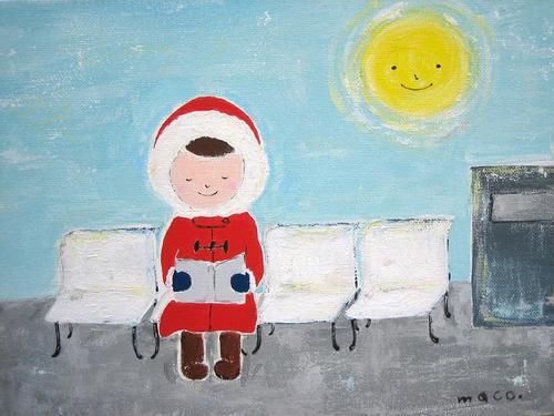 ある冬の日 赤いフードの女の子