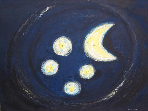 お月さまとお星さま